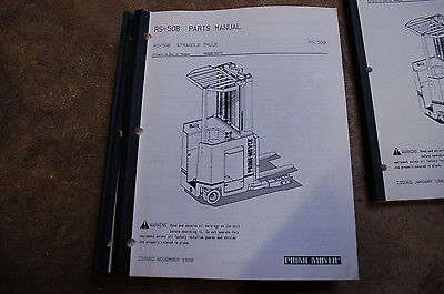 Bt Prime Mover Rs50b Electric Straddle Truck Forklift Parts Manual Catalog Book
