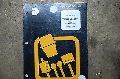 Dresser 525 Front End Wheel Loader Owner Operator Operation Maintenance Manual