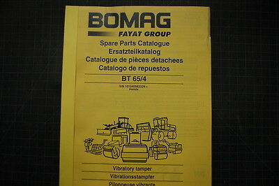 Bomag Bt 654 Vibratory Tamper Parts Manual Book 2010 Catalog Rammer Stamper Oem