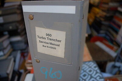 Case 960 Turbo Trencher Repair Shop Service Manual Owner Overhaul Tractor 2001