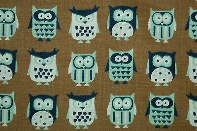 Jo Ann Fabrics Owl Linear Owls Novelty Prints Cotton Quilt Craft Fabric Bty