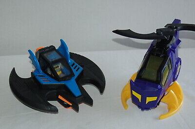 2008 Mattel Batman BATWING DC Super Friends & 2012 Purple Batgirl Helicopter