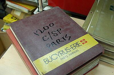 Bucyrus Erie 1200-csp 60 Ton Hydraulic Self Propelled Crane Parts Manual Book