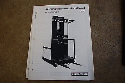 Bt Prime Mover Oe Series Truck Owner Operator Maintenance Parts Manual Book Shop
