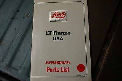 Lister Lt Range Diesel Engine Supplementarty Parts Manual Book Catalog List 1981