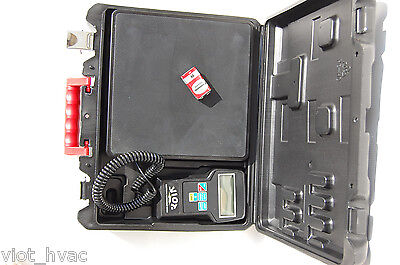 Digital Refrigerant Charging Recovery Scale Accurate 14 Oz 220 Lb Capacity Hvac