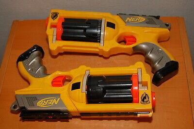 Lot of 2 Yellow Nerf N-Strike Maverick REV-6 Revolver Dart Gun