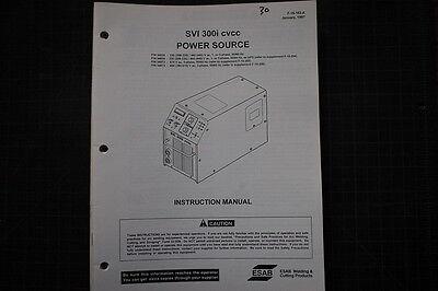 Esab Svi 300i Welder Power Source Partsserviceoperator Manual Repair Owner