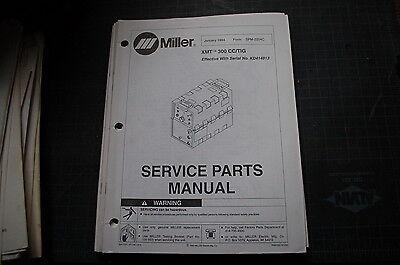 Miller Welder Xmt 300 Cc Tig Generator Owner Parts Manual Book Catalog Spare