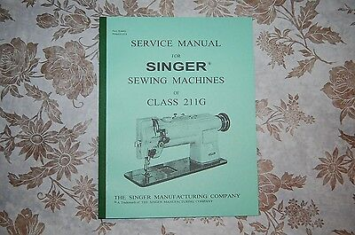 Singer Sewing Machine 211G Service Manual CD. Also for 111G 111W 211U 211W 411U for sale  Shipping to India