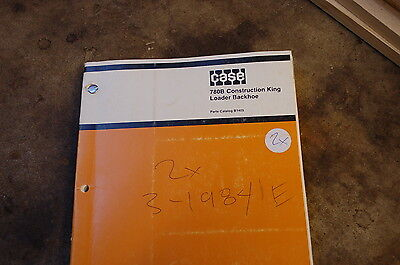 Case 780b Backhoe Loader Tractor Parts Manual Book Catalog List Spare Front End