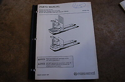 Bt Prime Mover Mx65 Rx65 Electric Pallet Jack Truck Parts Manual Catalog Book