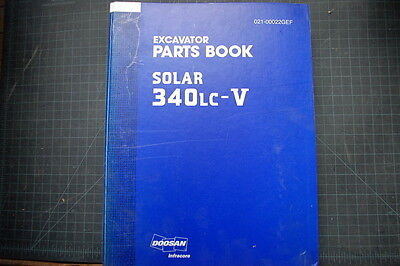 Daewoo 340lc Excavator Parts Manual Book Catalog Spare Index Shop Track Crawler