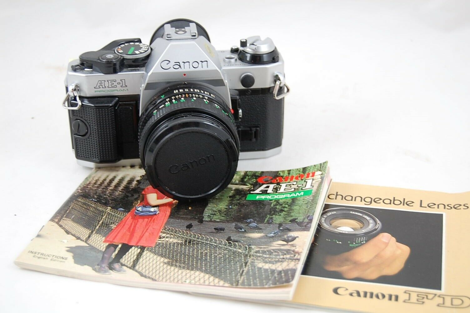 Canon AE-1 Program Camera With FD 50mm 1.8 Lens - $133.50