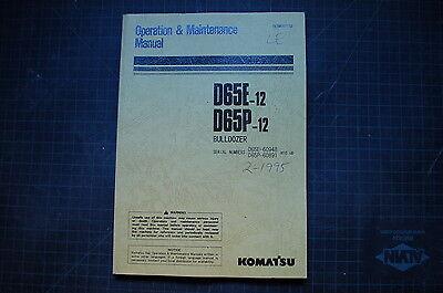 Komatsu D65e D65p-12 Dozer Crawler Operation Maintenance Manual Operator Owner