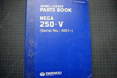 Daewoo 250-v Front End Wheel Loader Parts Manual Book Catalog Spare Index Shop