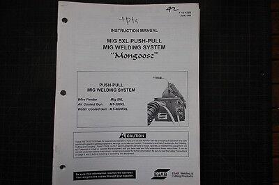 Esab Mig 5xl Push Pull Welder Partsserviceoperator Manual Repair Owner Welding