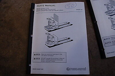 Bt Prime Mover Mx50 Rx50 Electric Pallet Jack Truck Parts Manual Catalog Book