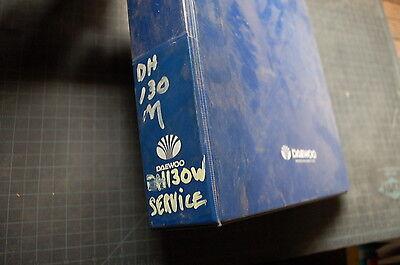Daewoo Dh-130w Wheeled Excavator Repair Shop Service Manual Book Overhaul
