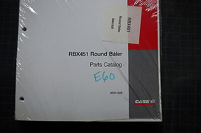 Case Rbx451 Round Baler Parts Manual Book Catalog Shop Spare List Farm Tractor