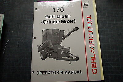 Gehl Mixall Grinder Mixer Owner Operator Lubrication Manual Book Operation Guide