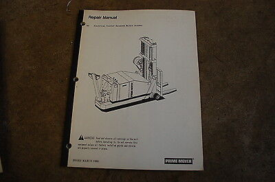 Bt Prime Mover Sc Electric Walkie Stacker Service Repair Shop Manual Owner Book