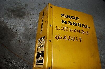 Komatsu Wa450-3 Avance Front End Wheel Loader Repair Service Manual Book 2000