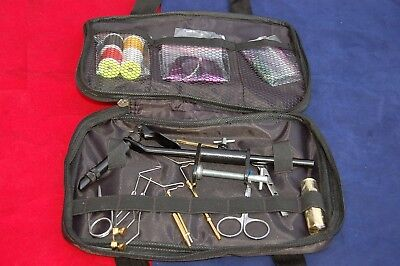 Fly Tying Kit with Vise, Whip Finisher, Plier, Bodkin, Many Tools