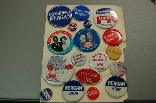 Republican Political Pin/Button Lot of 18  Reagan Lugar Kemp Nancy