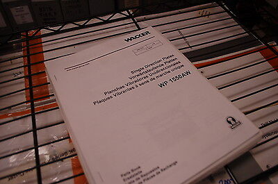 Wacker Wp 1550aw Single Direction Plate Compactor Parts Catalog Manual Book 2002
