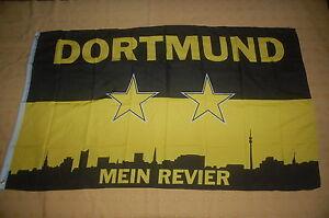 Dortmund Mein Revier Silhoutte Flagge Fahne 90 x 150 cm