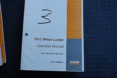 Case 921c Front End Wheel Loader Owner Operator Maintenance Manual Guide Safety
