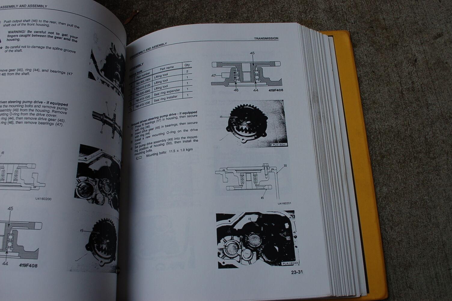 3 of 6 KOMATSU WA180-1LC WHEEL LOADER Service Repair Overhaul Shop Manual  book
