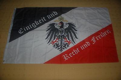 Einigkeit und Recht und Freiheit schwarz weiß rot Adler Fahne Flagge 150 x 90 cm