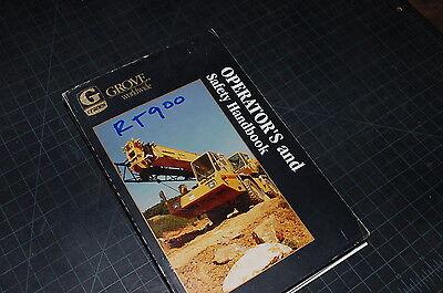 Grove Crane Rt900 Owner Operator Operation Maintenance Manual Book Rough Terrain