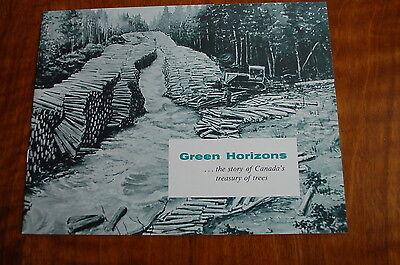 Caterpillar Canada Green Horizon Logging Sales Brochure Vintage Rare Skidder