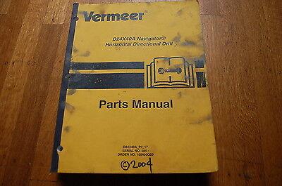 Vermeer D24x40a Navigator Parts Manual Book Horizontal Directional Drill 2004