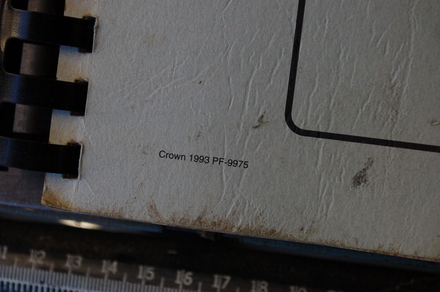 Crown 35rrtt Manual Forklift Wiring Diagram Array Rh Elzplorers De