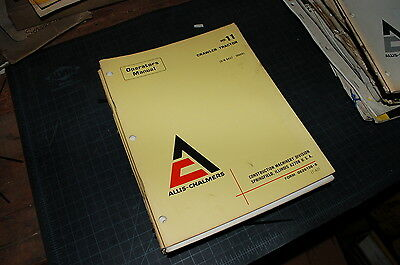 Allis Chalmers Hd11 Tractor Crawler Dozer Owner Operator Operation Manual Book
