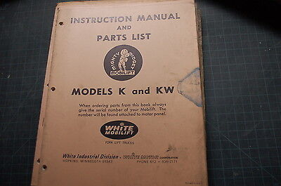 White Model K Kw Forklift Service Repair Parts Manual Book Catalog Spare Shop