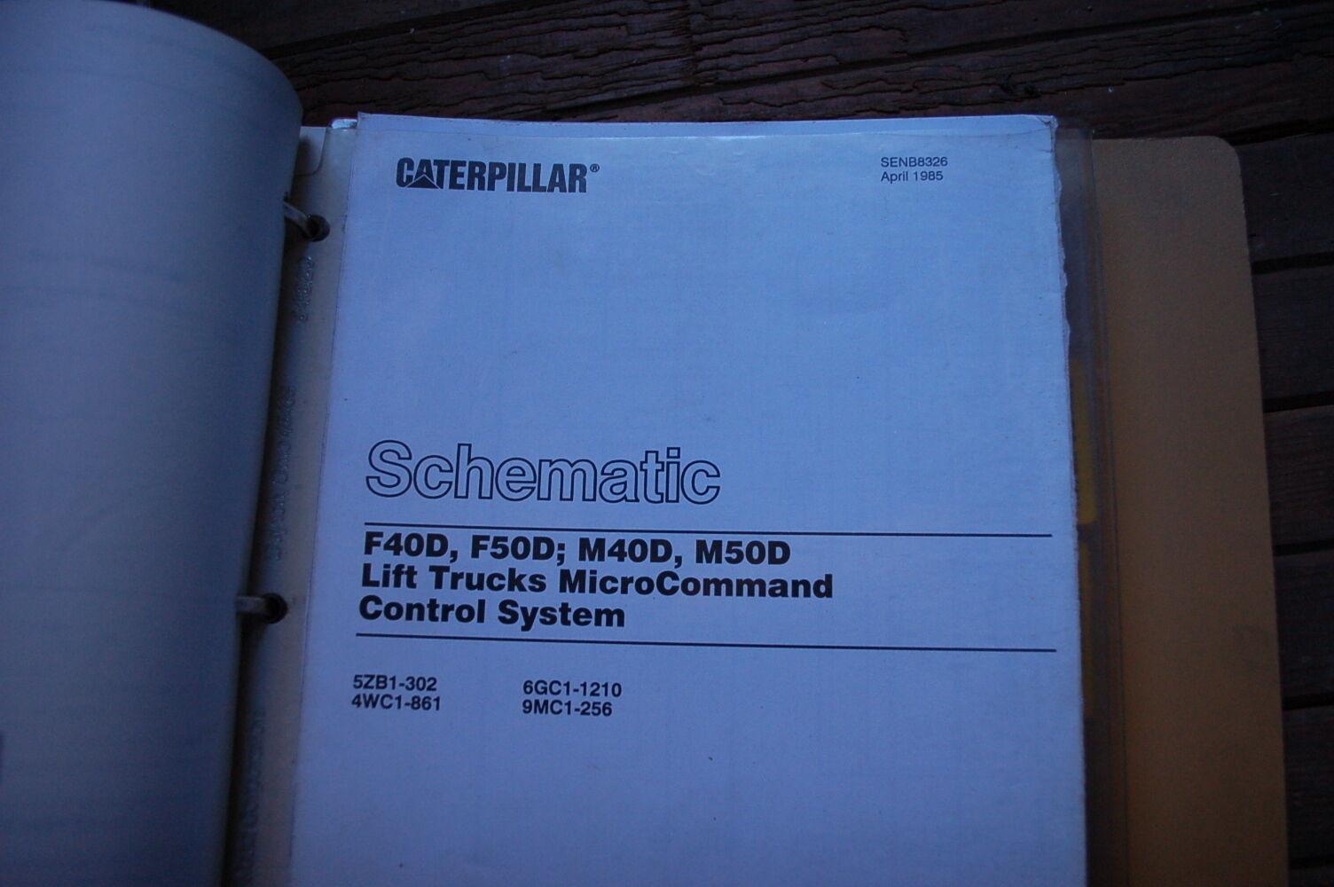 Caterpillar F40d F50d F60d Forklift Service Manual Towmotor Book Schematic 3 Of 6 Repair Owner 4