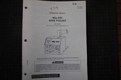 Esab Mig 4hd Wire Feed Welder Partsserviceoperator Manual Repair Owner Welding