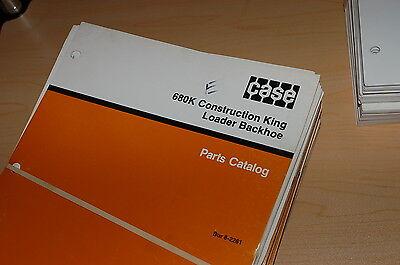 Case 680k Construction King Backhoe Loader Spare Parts Manual Book Catalog 1988