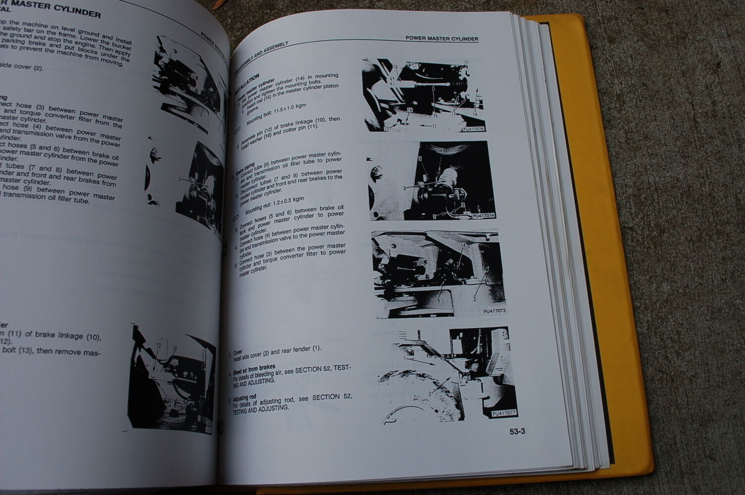 5 of 6 KOMATSU WA180-1LC WHEEL LOADER Service Repair Overhaul Shop Manual  book