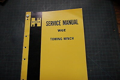 Hyster Winch W6e Service Manual Book Crawler Tractor Dozer Repair Overhaul Shop