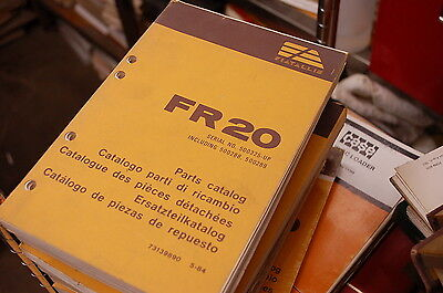 Fiat Allis Fr20 Front End Wheel Loader Spare Parts Manual Book Catalog 1984 List