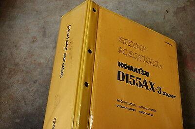 Komatsu D155ax 3 Tractor Dozer Crawler Service Manual Book Repair Overhaul Shop