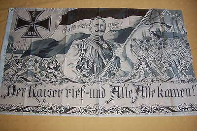 Gott mit uns Der Kaiser rief und Alle Alle kamen 1914 Flagge 150 x 90 cm # 382