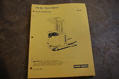 Bt Prime Mover Rs 50 Straddle Truck Electric Forklift Parts Manual Catalog Book