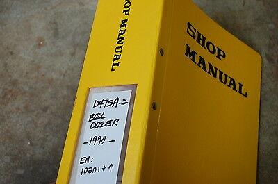 Komatsu D475z 2 Tractor Dozer Crawler Service Manual Book Repair Overhaul Shop